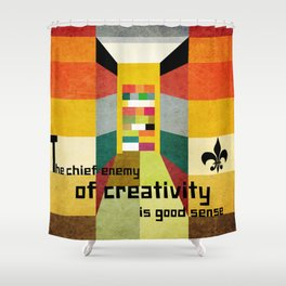 The enemy of creativity Shower Curtain