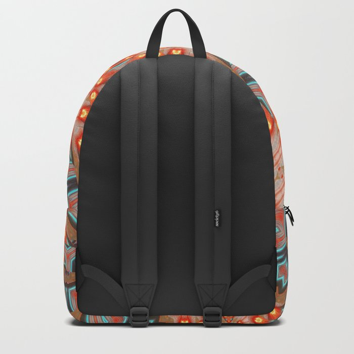 Energy Light | Orange & Teal geometry Backpack