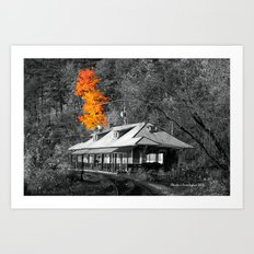 The Old Train Station Art Print