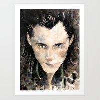 loki Art Prints featuring Loki by Rosaria Battiloro