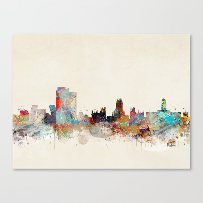madrid spain skyline Canvas Print
