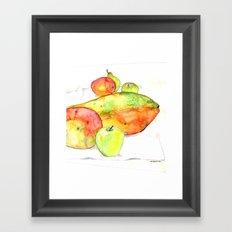 watercolor fruits Framed Art Print