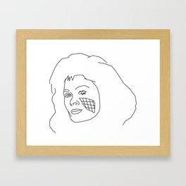 Diana of V Framed Art Print