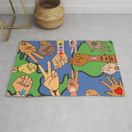 Save the Planet Earth Day Rug