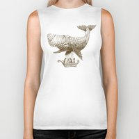 whimsical Biker Tanks featuring Tea at 2,000 Feet by Eric Fan