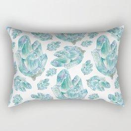 Aquamarine Birthstone Watercolor Painting Rectangular Pillow