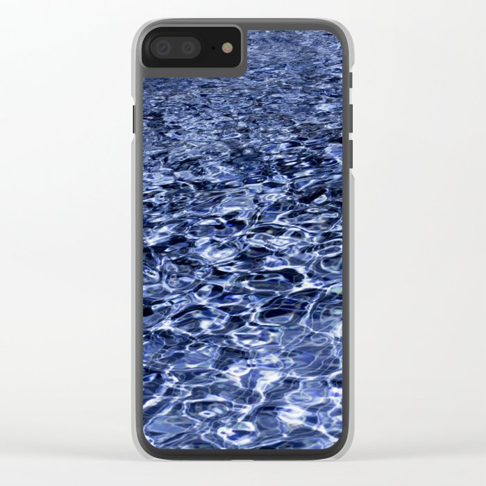 water and ripples Clear iPhone Case