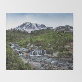 Edith Creek and Mount Rainier Throw Blanket