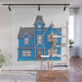 the blue house Wall Mural