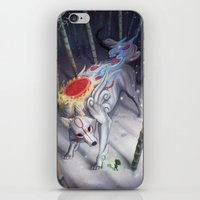 okami iPhone & iPod Skins featuring Okami by Caroline Roy