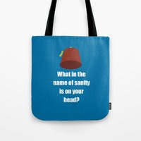 fez Tote Bags featuring Fez by Grace Thanda