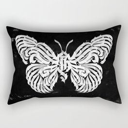 Butterfly gothic calligraphy Rectangular Pillow