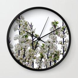 Bradford Pear Blossoms  Wall Clock