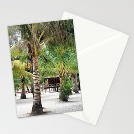 Bungalows on Palm Beach Stationery Cards