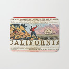 A NEW AND MAGNIFICENT CLIPPER FOR SAN FRANCISCO. MERCHANT'S EXPRESS LINE OF CLIPPER SHIPS! Bath Mat