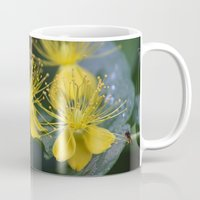 copenhagen Mugs featuring Copenhagen Yellow by Abby Hoffman