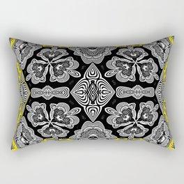 Afro Caribbean Inspired Neo Tribal Boho Print Rectangular Pillow