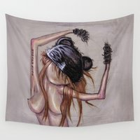 lolita Wall Tapestries featuring takeoffyourface by Rouble Rust