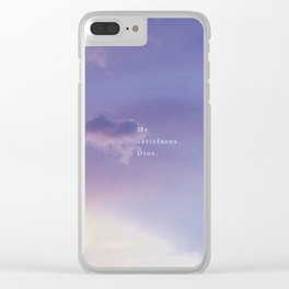 ME SATISFACES DIOS Clear iPhone Case