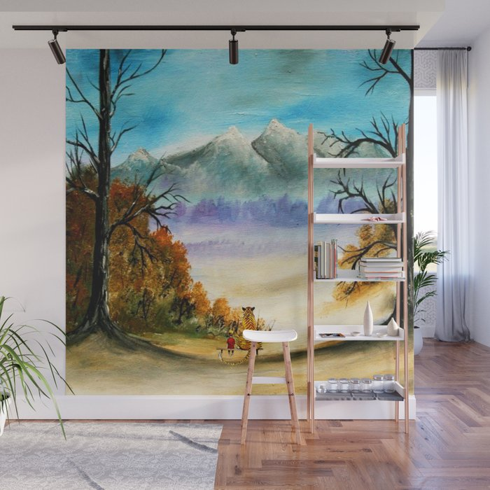 Calvin And Hobbes Look To The Something Wall Mural By Ardiansyahputra