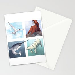 Arctic Origami Stationery Cards