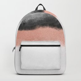 rose gold and grey watercolor ombre Backpack