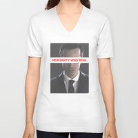 moriarty V-neck T-shirts featuring Moriarty Was Real / Moriarty / IV by Earl of Grey