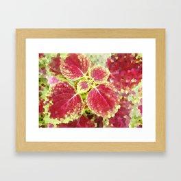 Decorative glass image leaf pattern Framed Art Print
