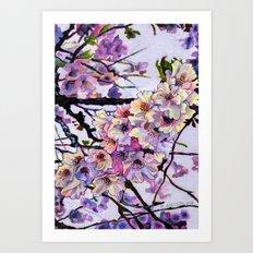 The Cherry Branch Art Print