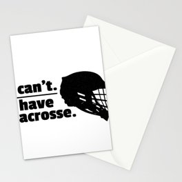 Lacrosse Can't Have Lacrosse Busy LAX Sport G.O.A.T Lacrosse Player Lacrosse Game ReLAX Steeze Stationery Cards