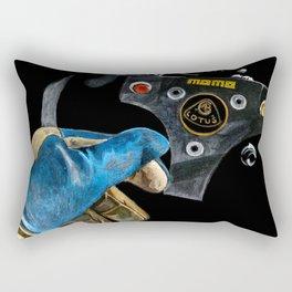 Ayrton Senna 1985 Lotus  Rectangular Pillow