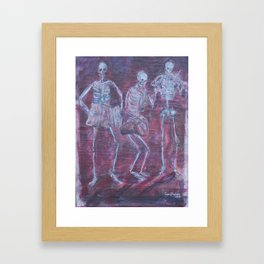 Dancing with the Dead Framed Art Print