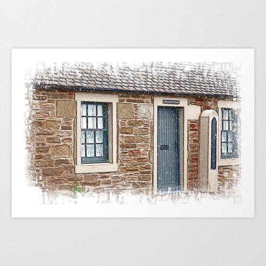 Barometer Cottage Art Print