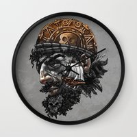 pirate Wall Clocks featuring Pirate by Kiptoe