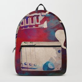 guitar art 4 #guitar #music Backpack