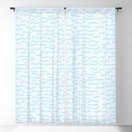 Light blue ocean waves seamless vector pattern. Blackout Curtain