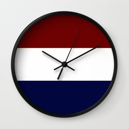 Team Colors 8....Maroon , navy and white Wall Clock