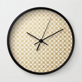 Charmed in Gold Wall Clock