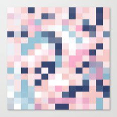 Map Blush And Blue Canvas Print