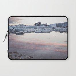 Jokulsarlon Lagoon - Sunset - Landscape and Nature Photography Laptop Sleeve