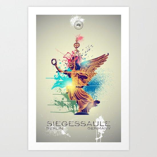 Siegessäule Abstract Art Print
