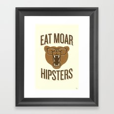 Eat Moar Hipsters Framed Art Print