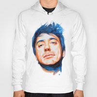 robert downey jr Hoodies featuring Robert Downey Jr. by KlarEm