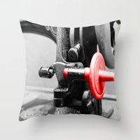 sewing Throw Pillows featuring Sewing Machine by Four Hands Art
