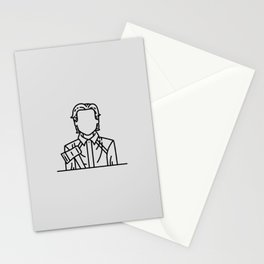 Patrick Bateman, the American Psycho (Grey Background) Stationery Cards