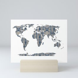 Shibori Map Of World 12 Mini Art Print