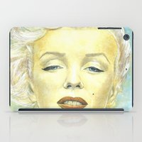 book cover iPad Cases featuring Marilyn Monroe comic book cover by Storm Media
