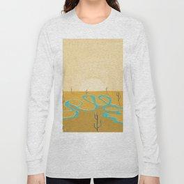 A stream of water in warm yellow desert Long Sleeve T-shirt