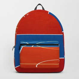 The Court in Red and Blue (Color) Backpack