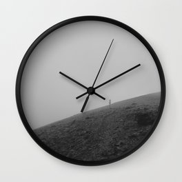 Yellowstone Trail Fog Wall Clock